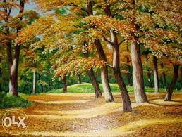 art painting interior picture forest