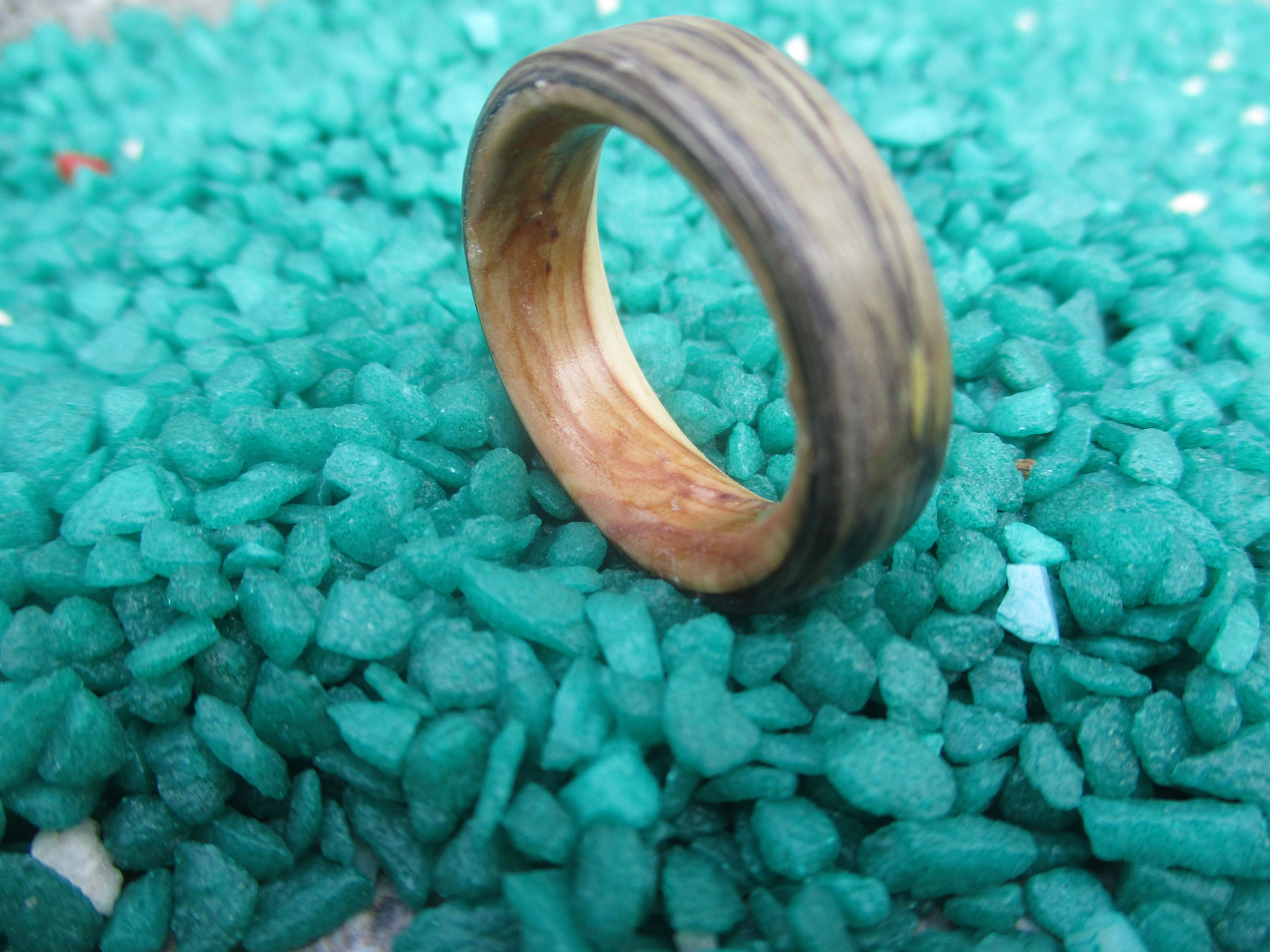 olive wooden jewelry engagement ring wood wedding