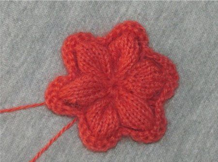 decorated flower textile knit goods