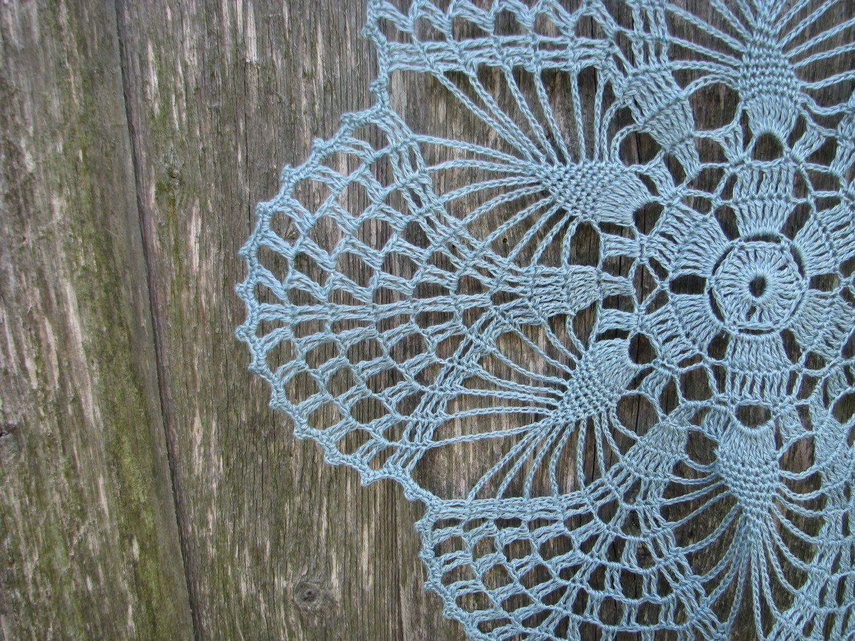 aquamarine doily gift round doilies crochet enguknits
