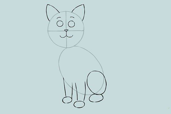 colors cat draw cartoon art