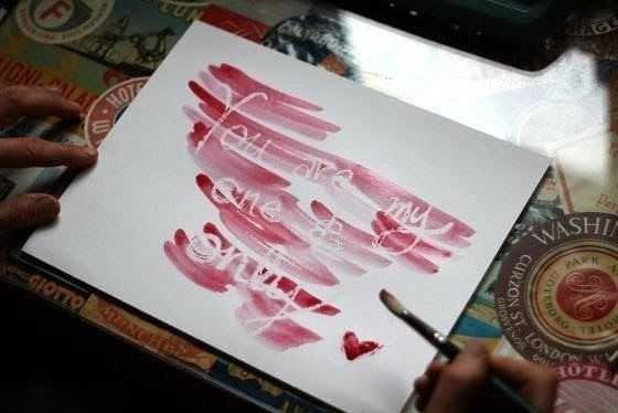 fun secret message invisibleletter playwithchildren parents children game watercolor diy