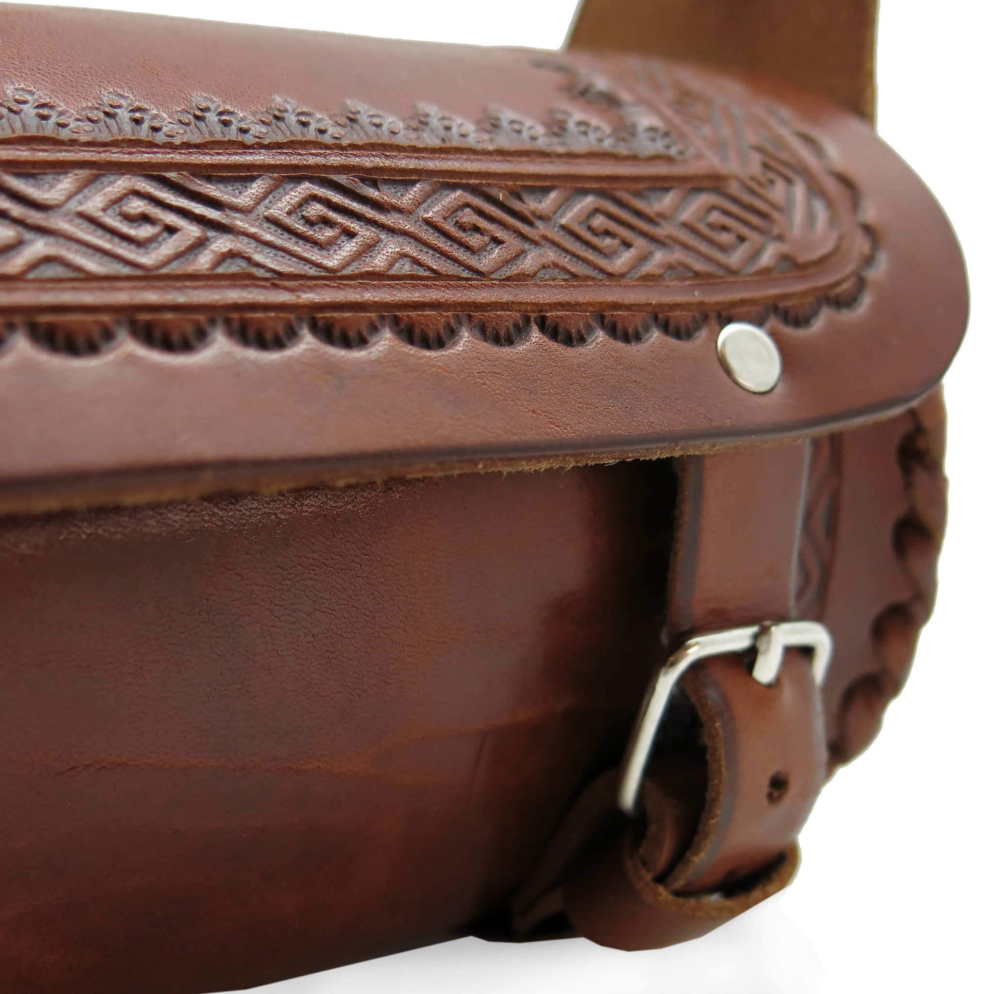handmade leather accessories bag brown