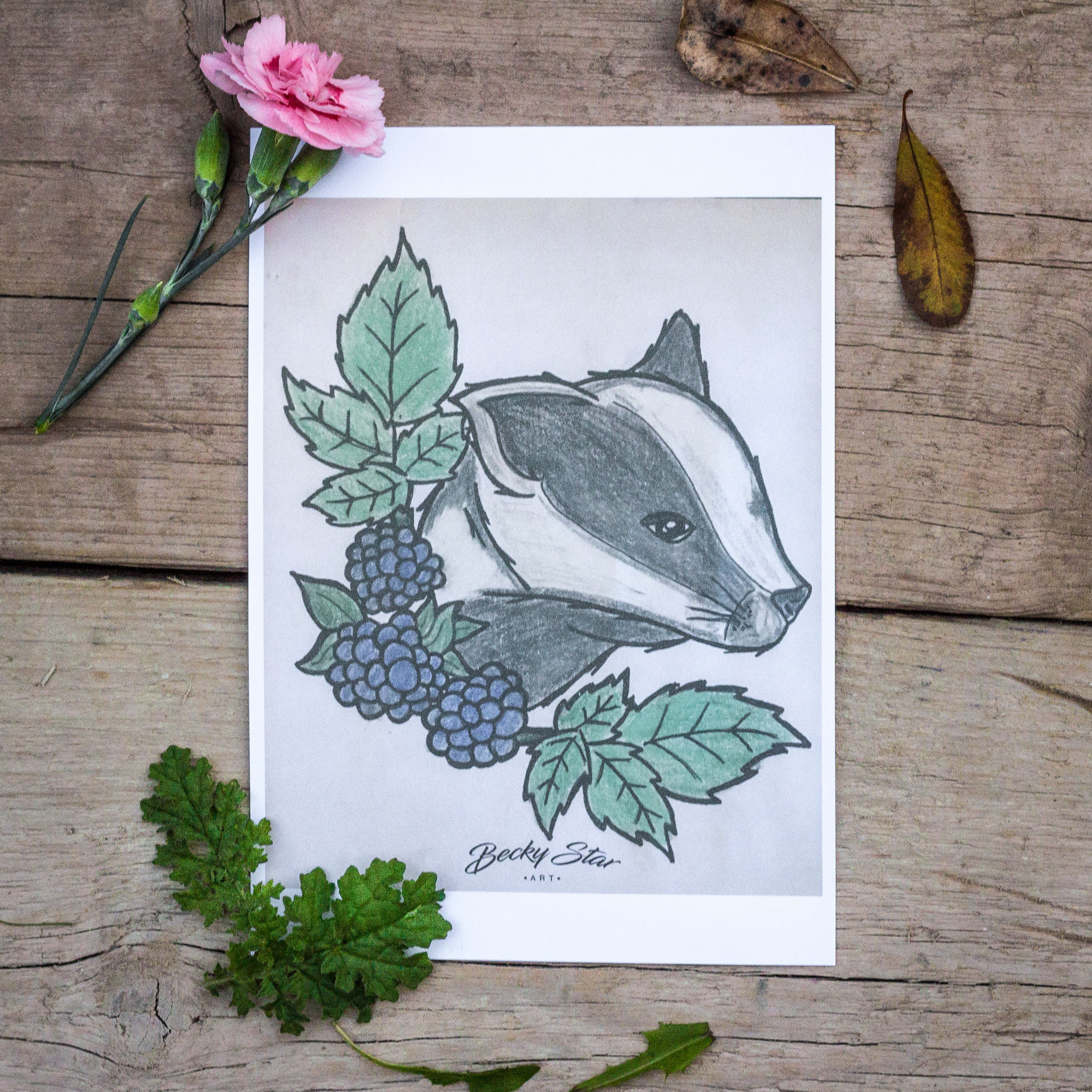 badger prints art