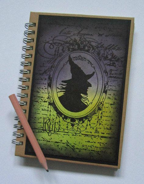 pocket witch gift journal halloween notebook book cameo lined
