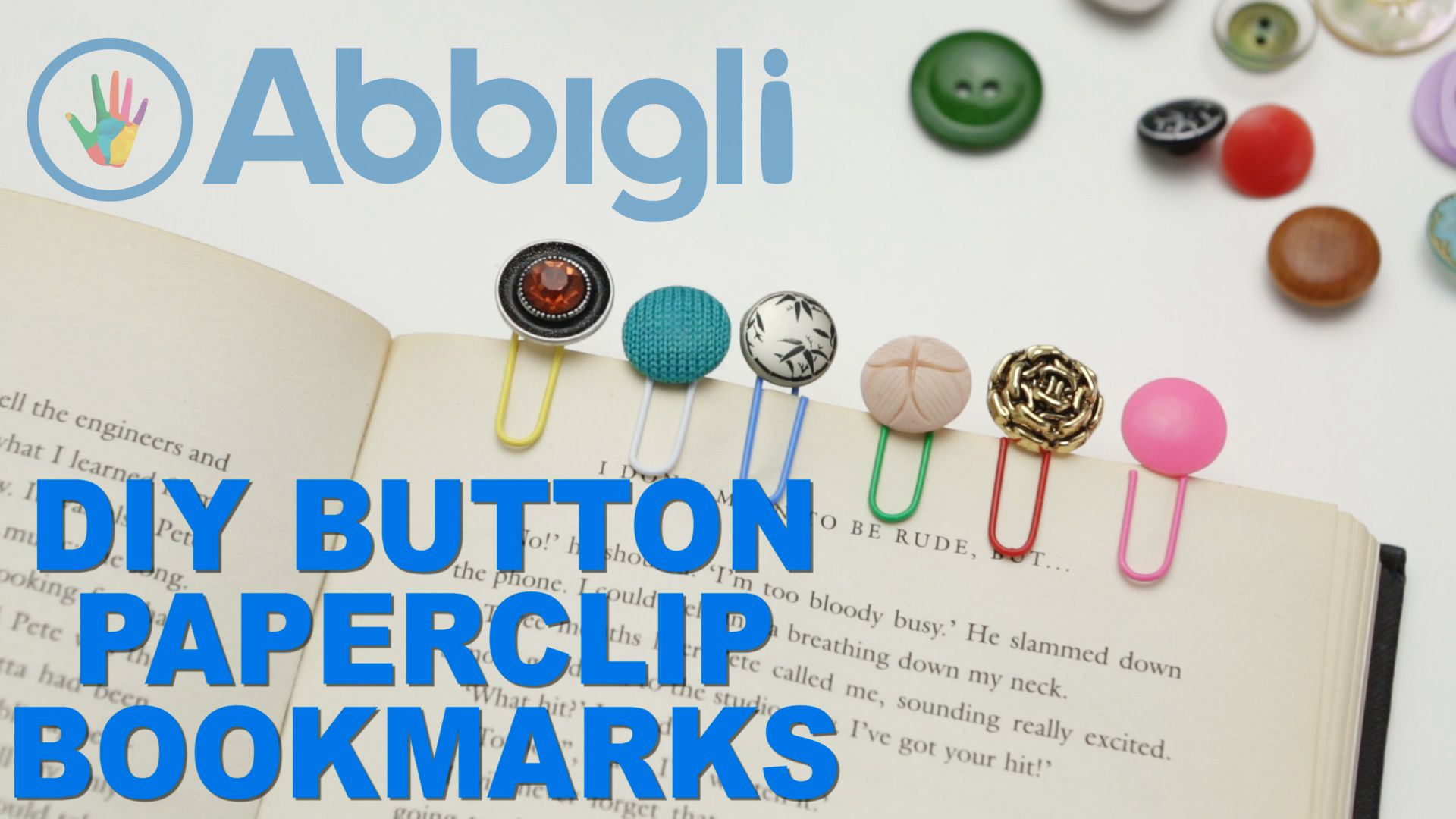 abbihome buttons handmadeforhome diywithkids diybookmark