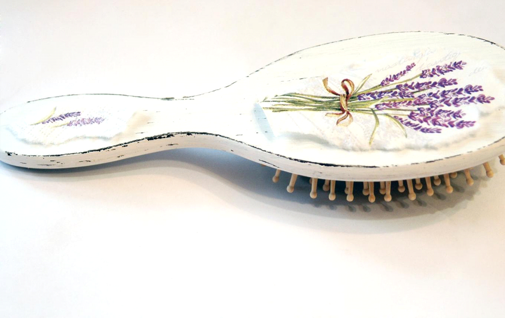 brush hairbrush vintage decoupage