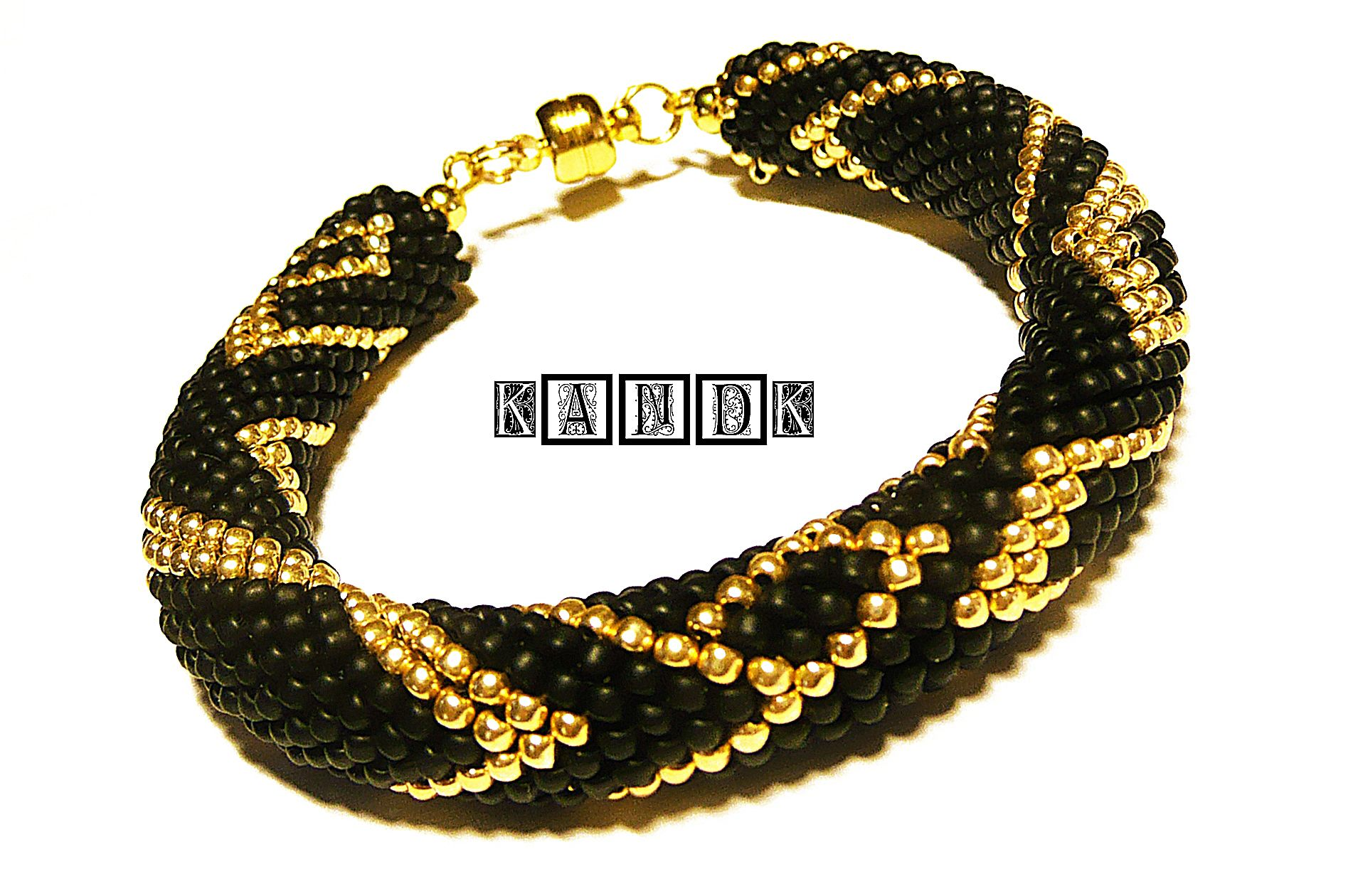 black golden toho bracelet kandk