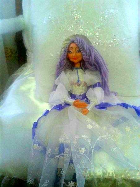 toy doll white textile handmade wedding