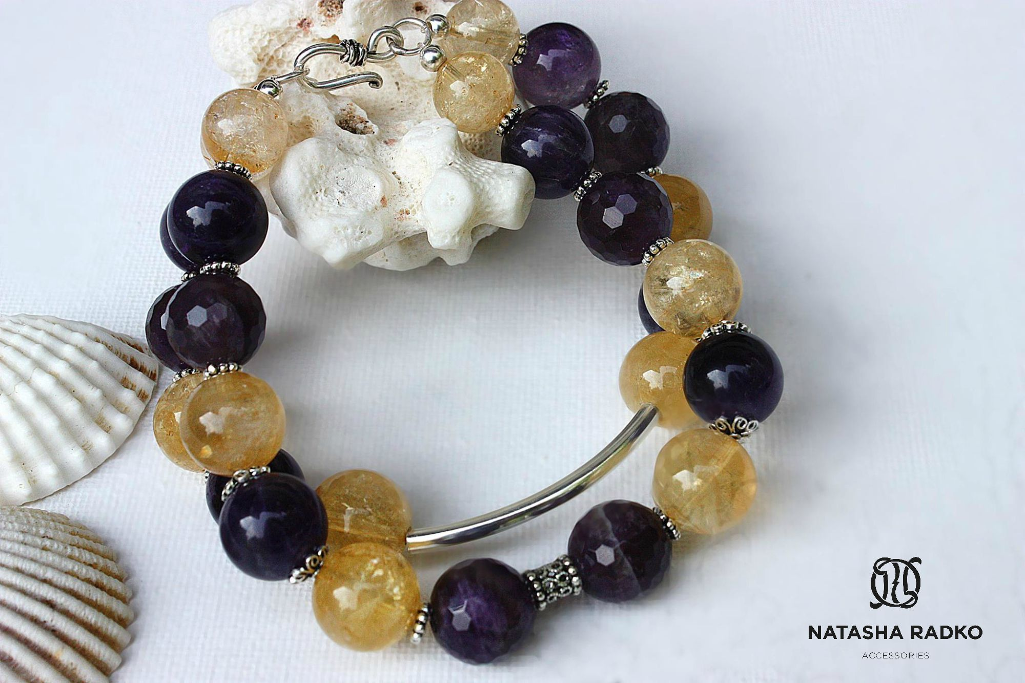 present wristlet amethyst jewelry silver citrine