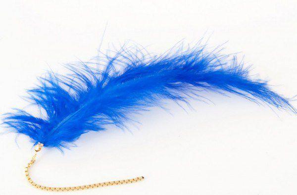 bird costume earrings jewelry handmade blue