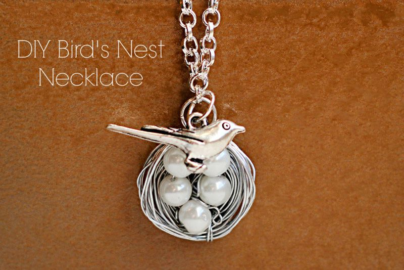 gift necklace jewelry bird diy