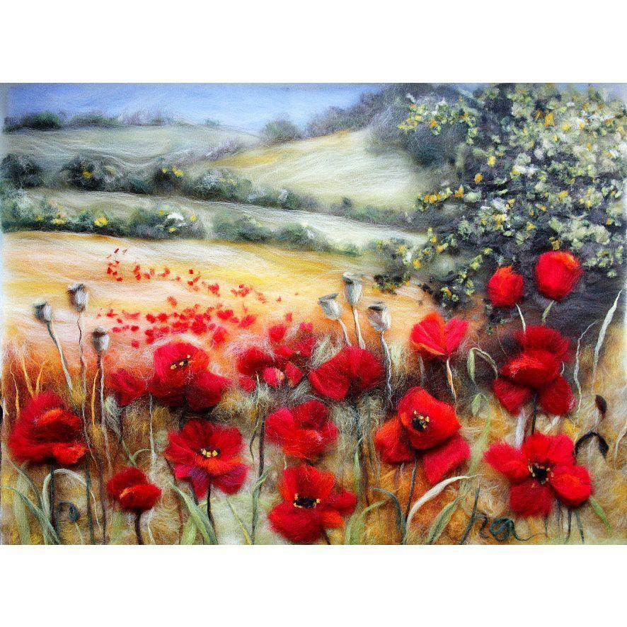 painting wool poppies watercolor