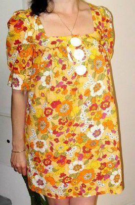 retro vintage dress clothes yellow