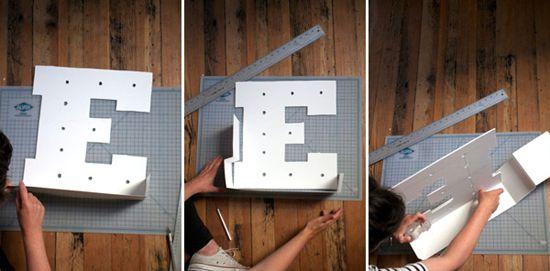 letters plastic vintage light make