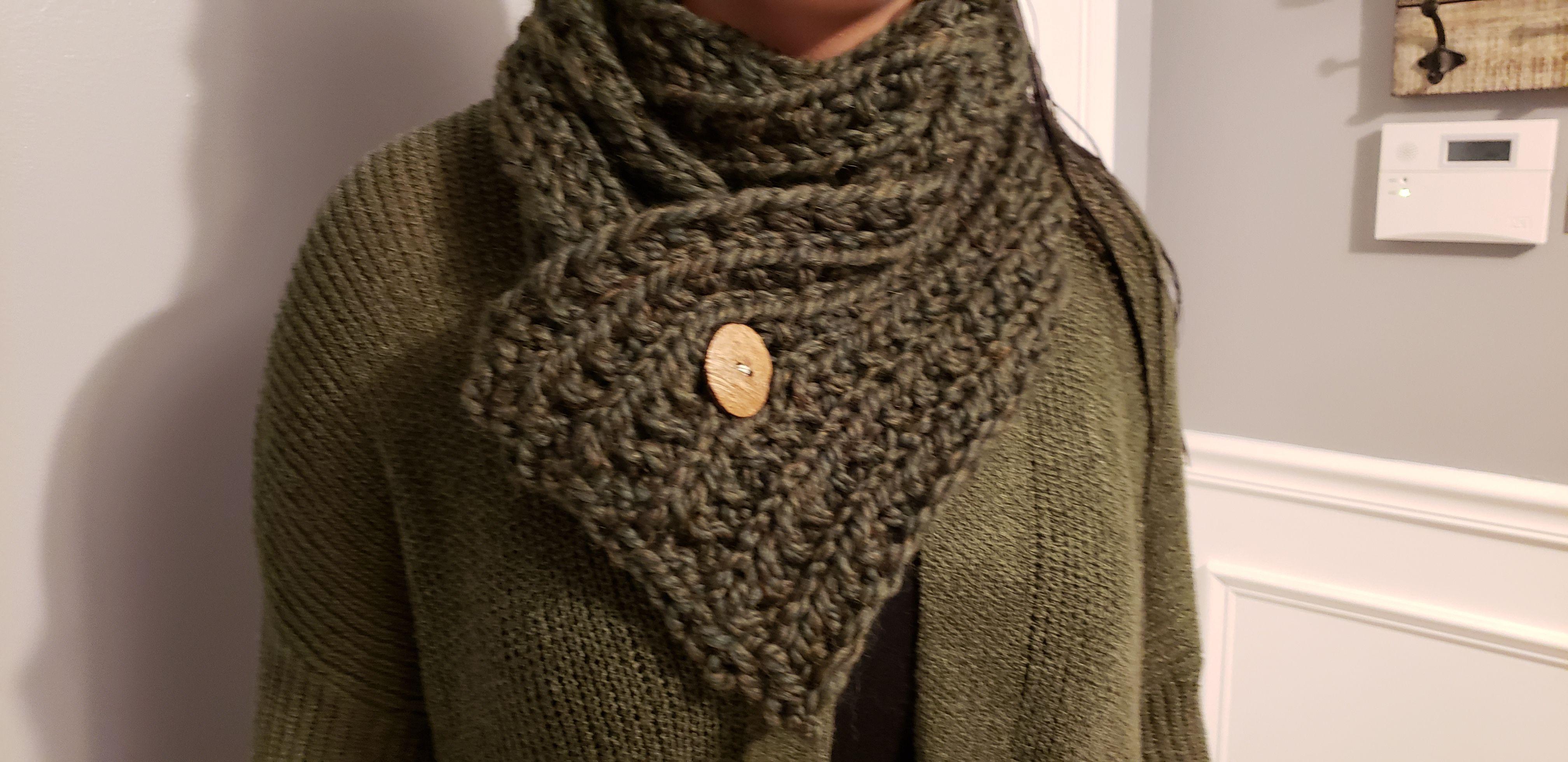 scarf womens cowl button watmer neck