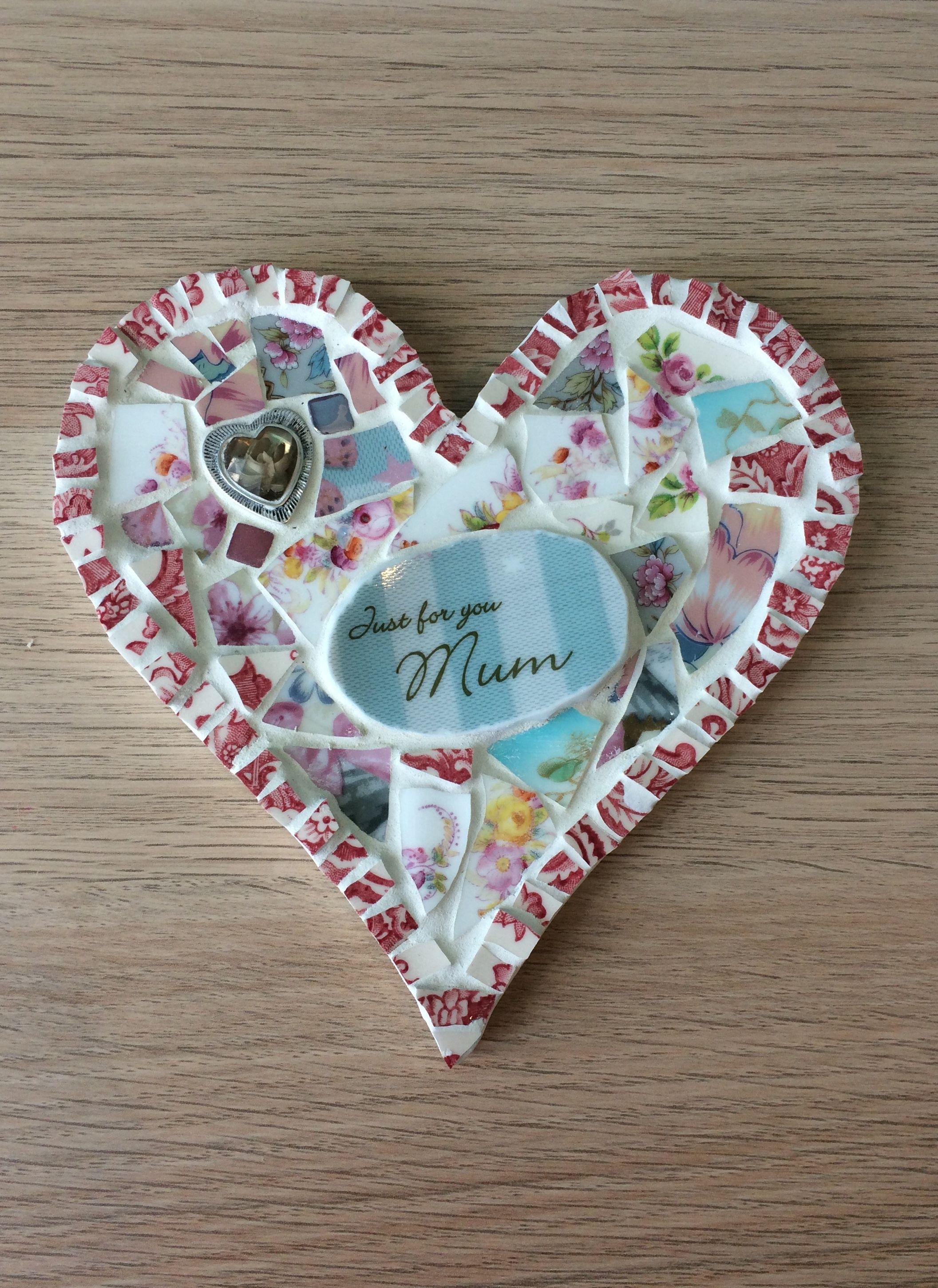 mum mosaics mosaic heart