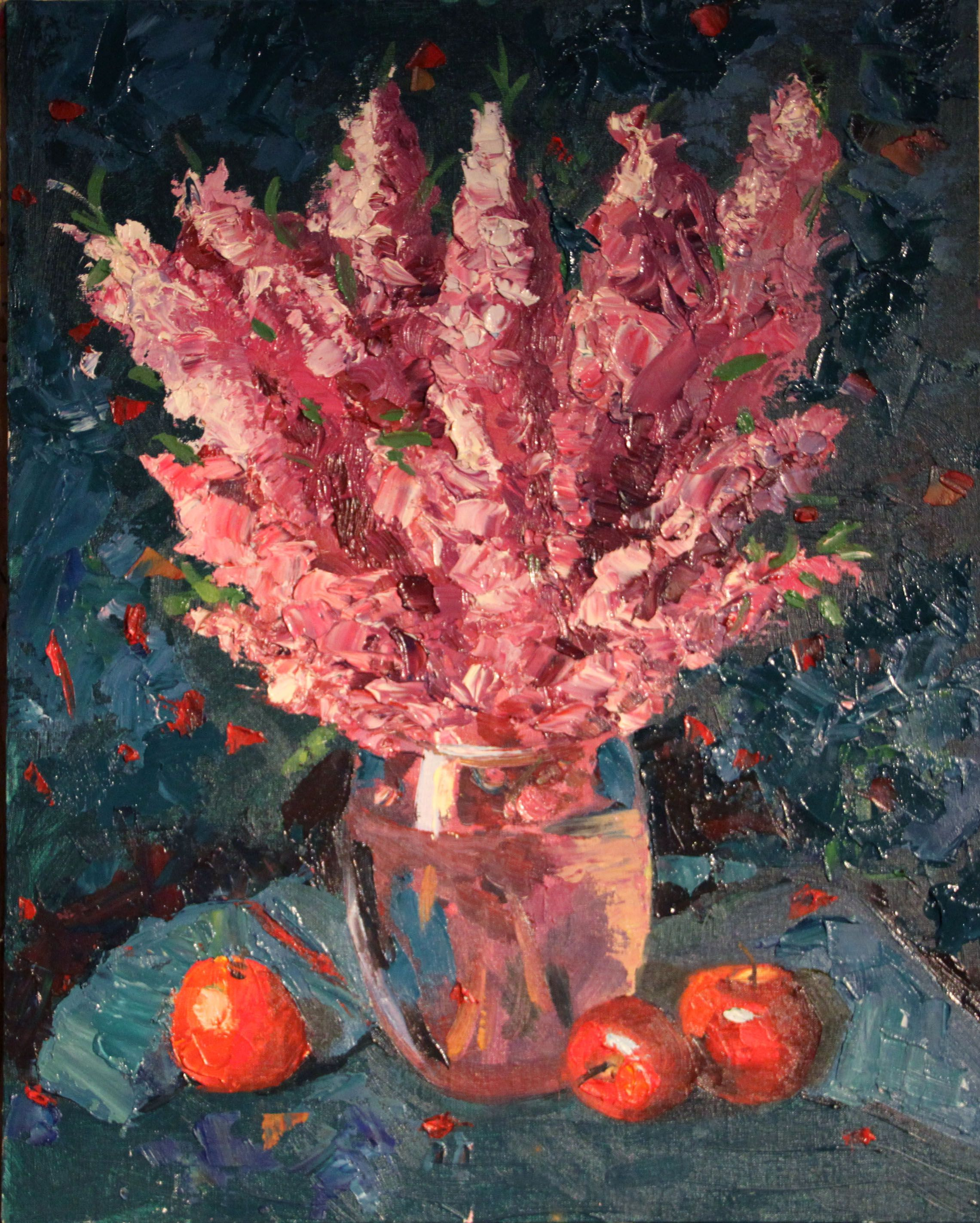 art flowers painting interior picture