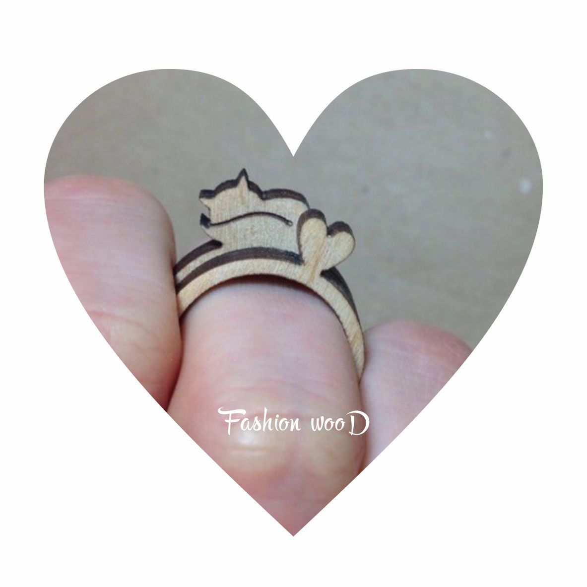 fashionwood gift ring fox