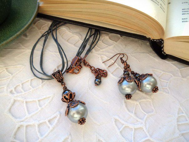 pendant present earrings pearl jewelry