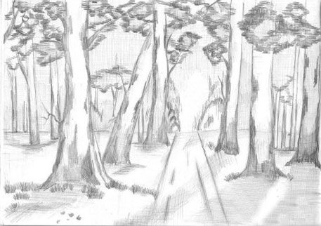draw shade scenery pencil art