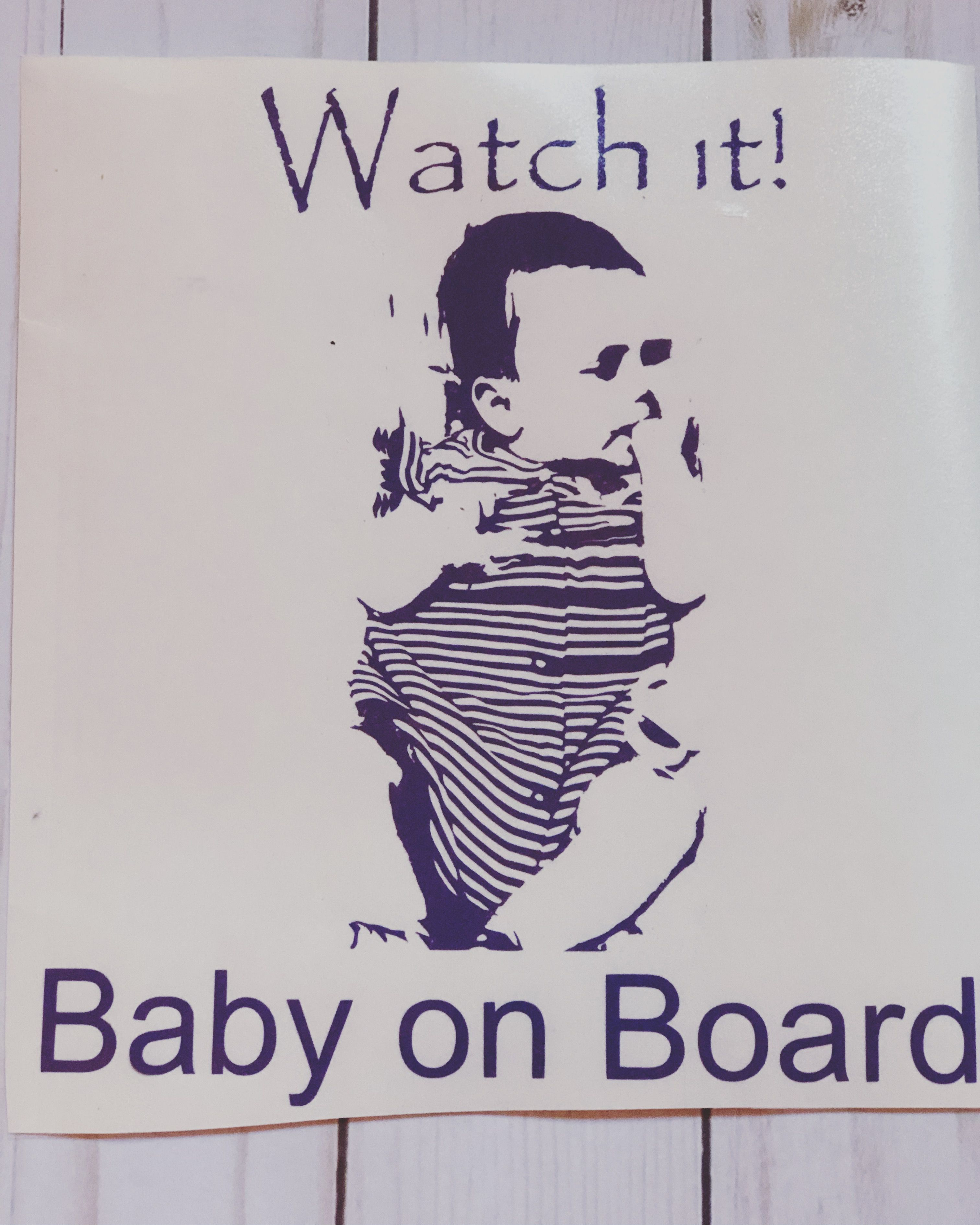 baby decal board