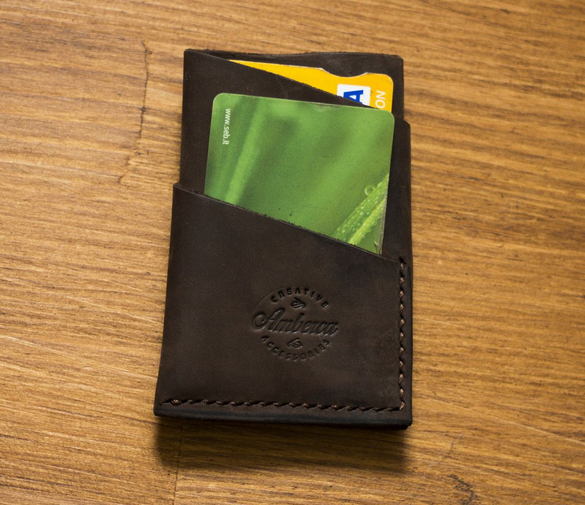 leather card wallet holder credit