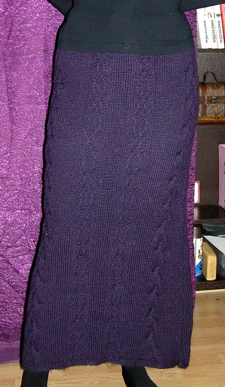 clothes skirt violet braids knitting