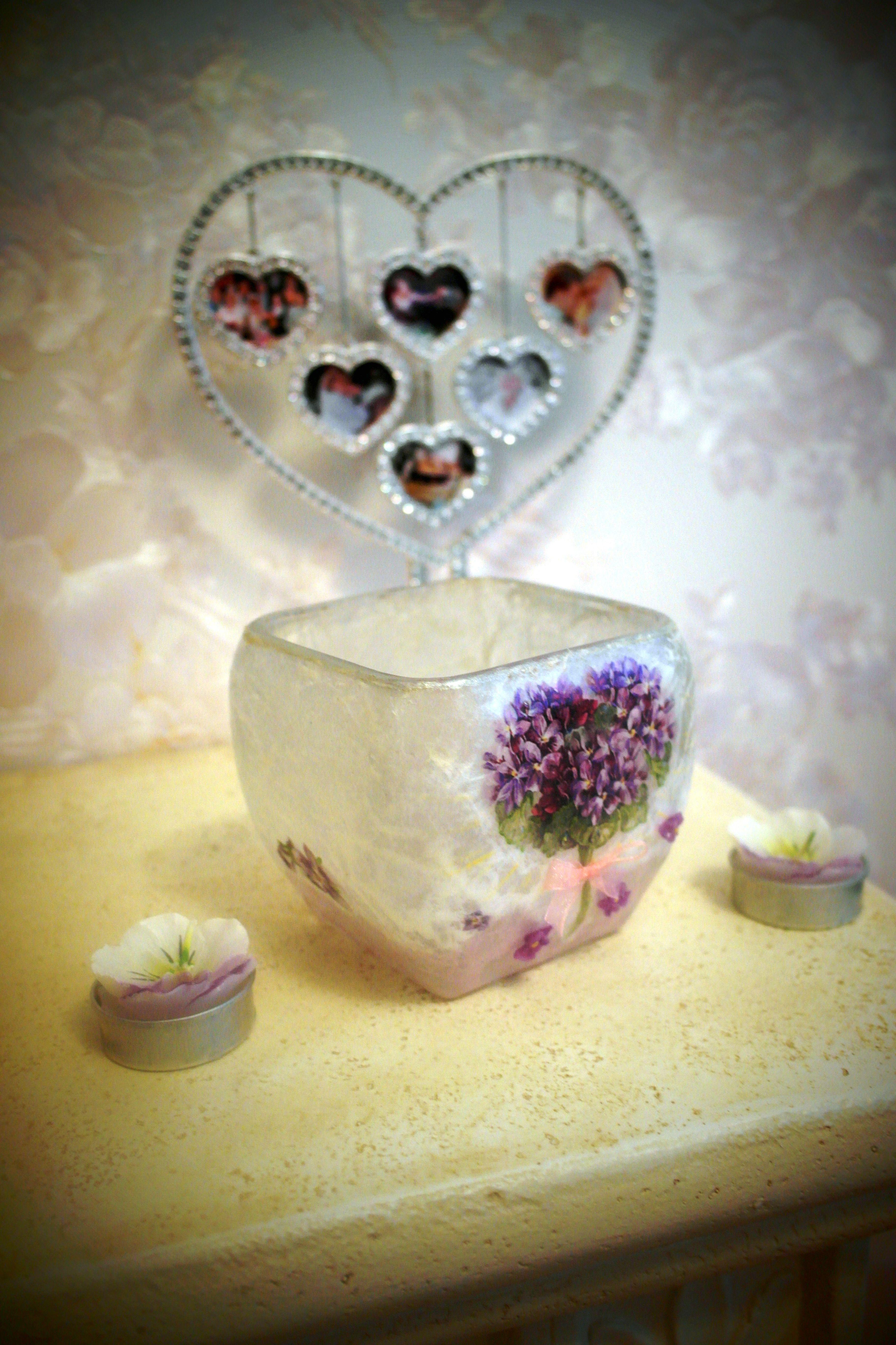 decoupage vase handmade clay polymericclay
