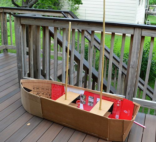 crafts paper boat make cardboard
