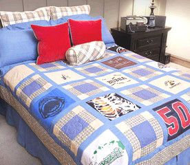 tshirtquilt gift diy home handmade handicraft tshirt quilt