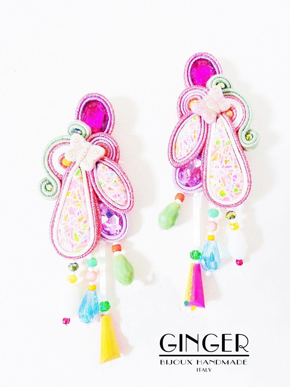 birthday chandeliers gift gingerbijoux madeinitaly earrings soutache handmade