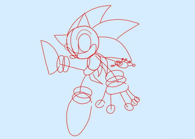 sonic instruction stepbystep draw art