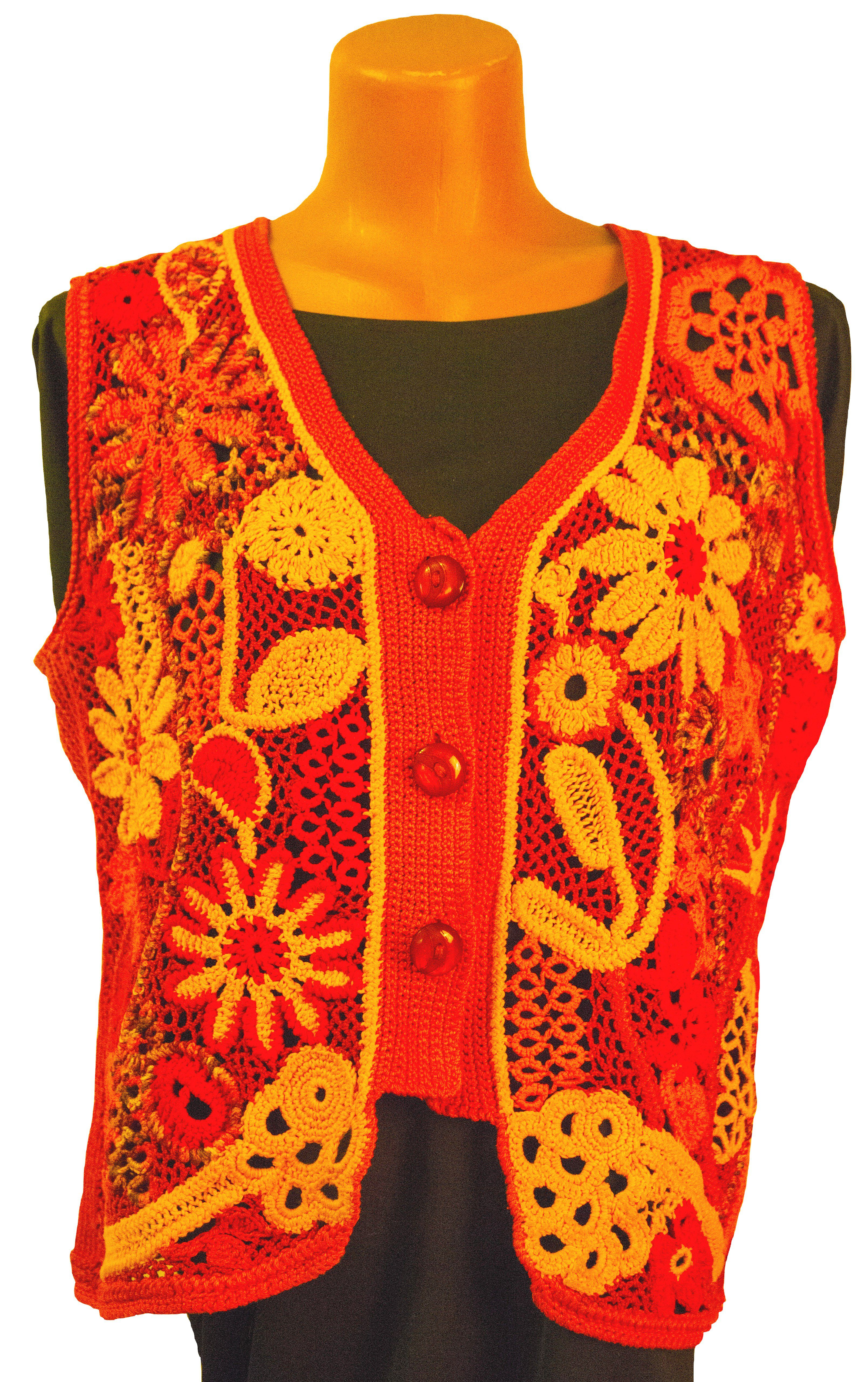 waistcoat clothes knitting red