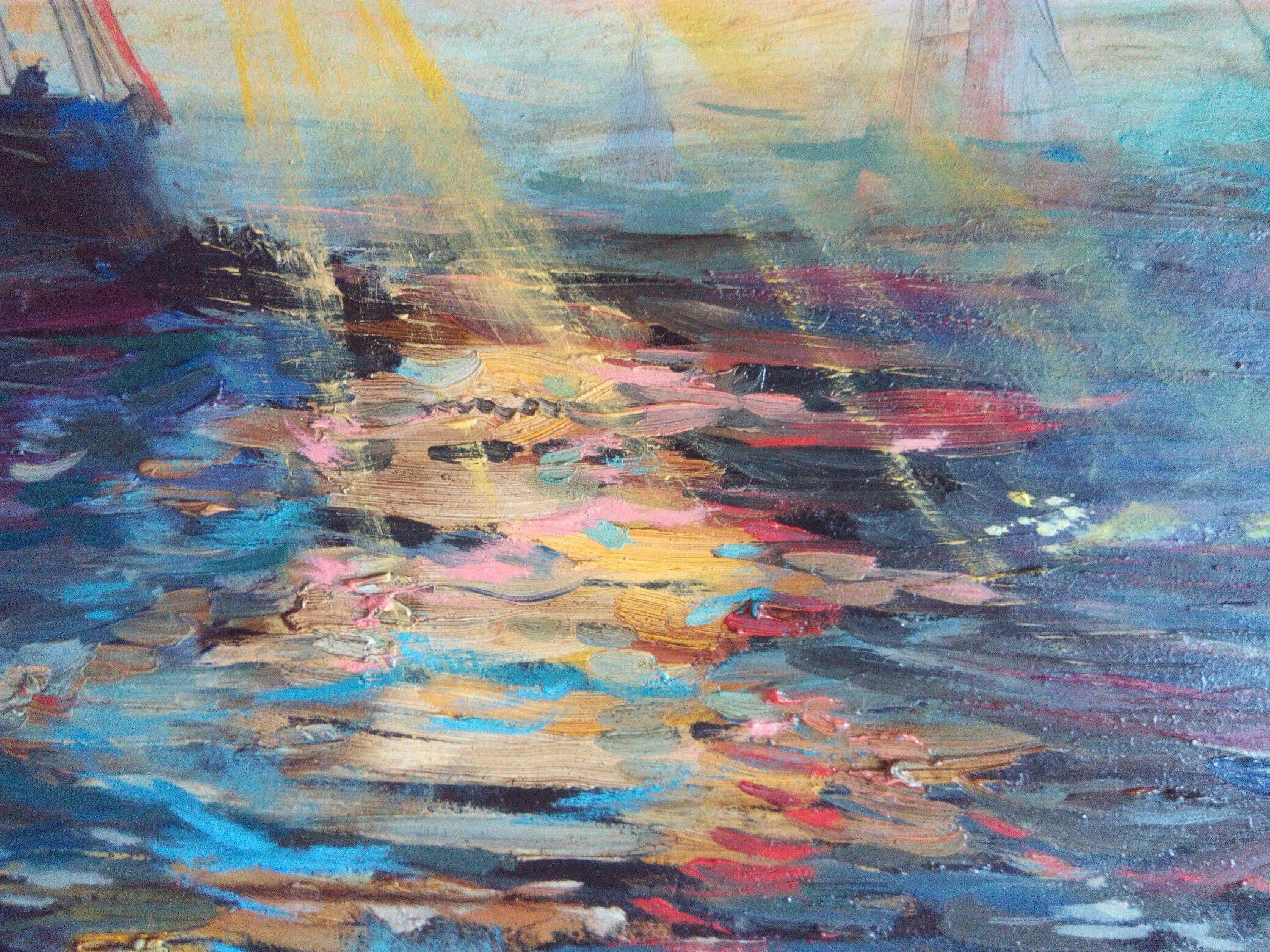 oil sea interior picture painting art