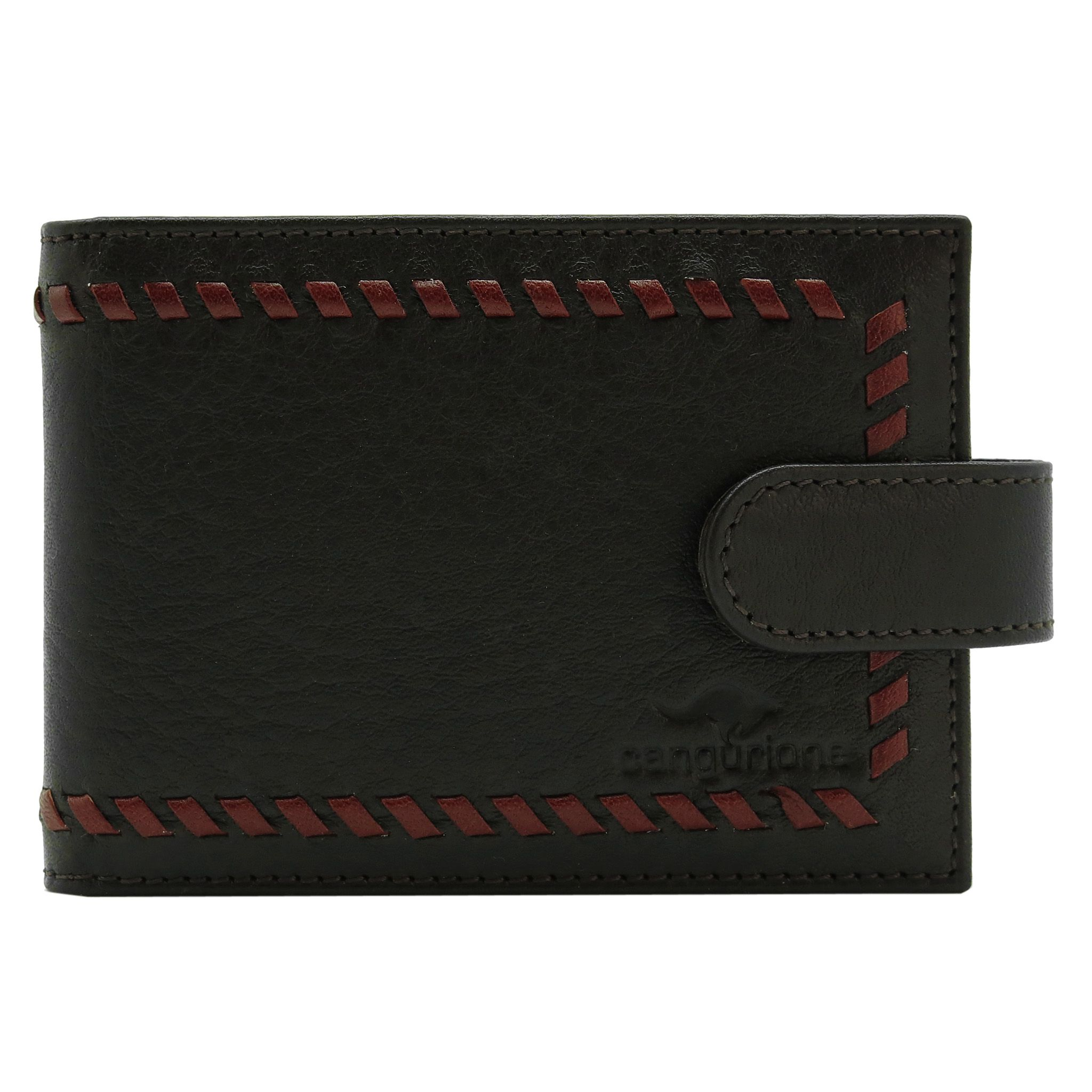 handmade leather accessories brown cardholder red