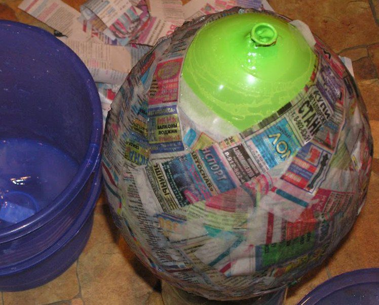 newspapers pinata decoration glue paper
