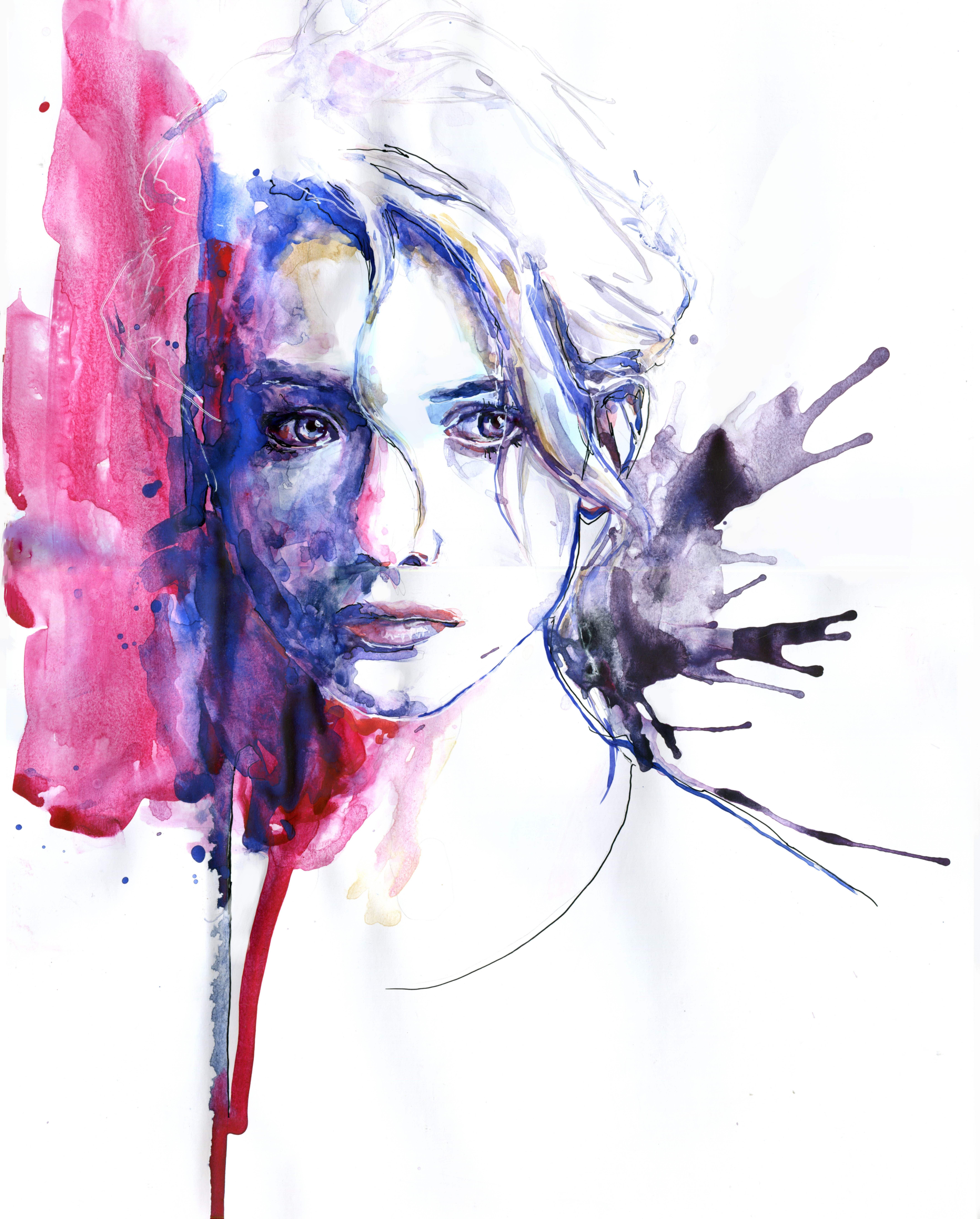 art painting beauty portrait watercolor