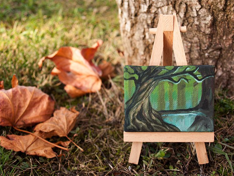 painting nature forest fantasy