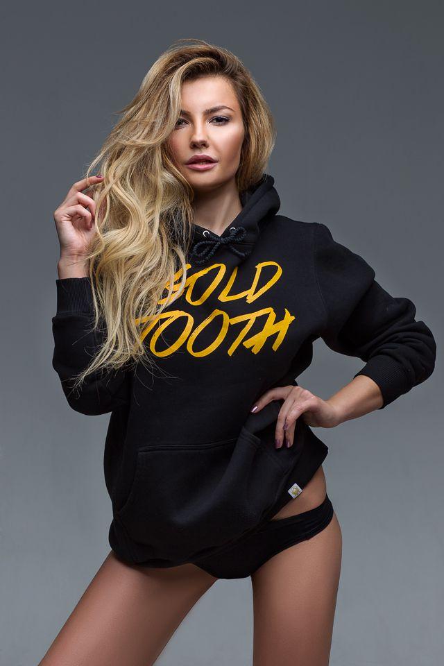 fashion clothes cotton pullover black