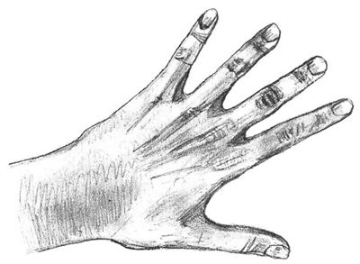 shadows hand art pencil draw