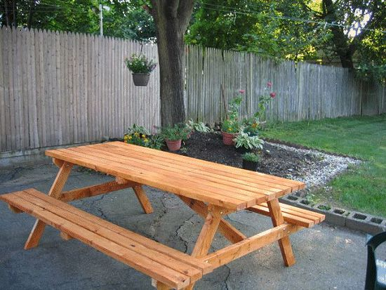 table wood make picnic gradually
