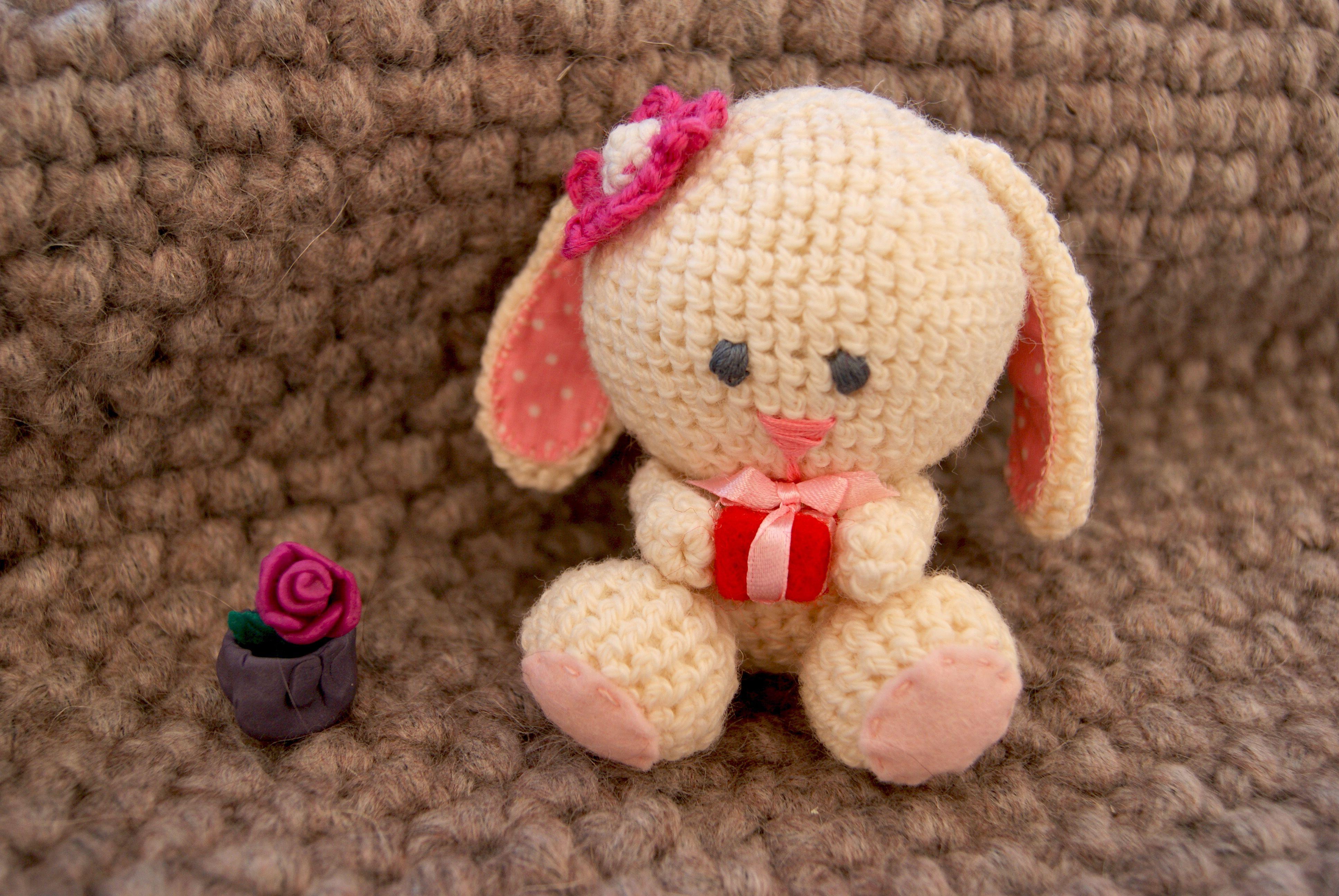 toy gift warm bunny coziness