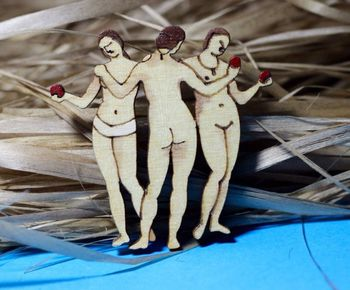 """The Three graces"" brooch"