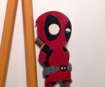 """Deadpool"" brooch"
