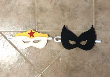 Felt Women Superhero Themed Masks