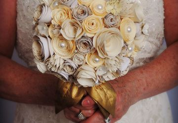 Vintage Paper Flower Wedding Bouquet