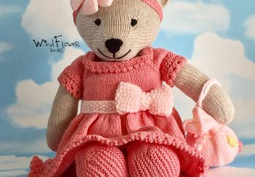 Hand crafted, one of a kind teddy bear - Larkspur