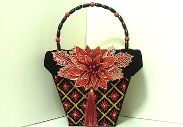 Red,Black and Gold Christmas Handbag