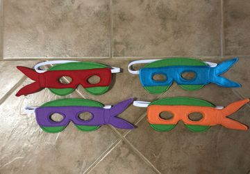 Felt Ninja Turtle Themed Masks